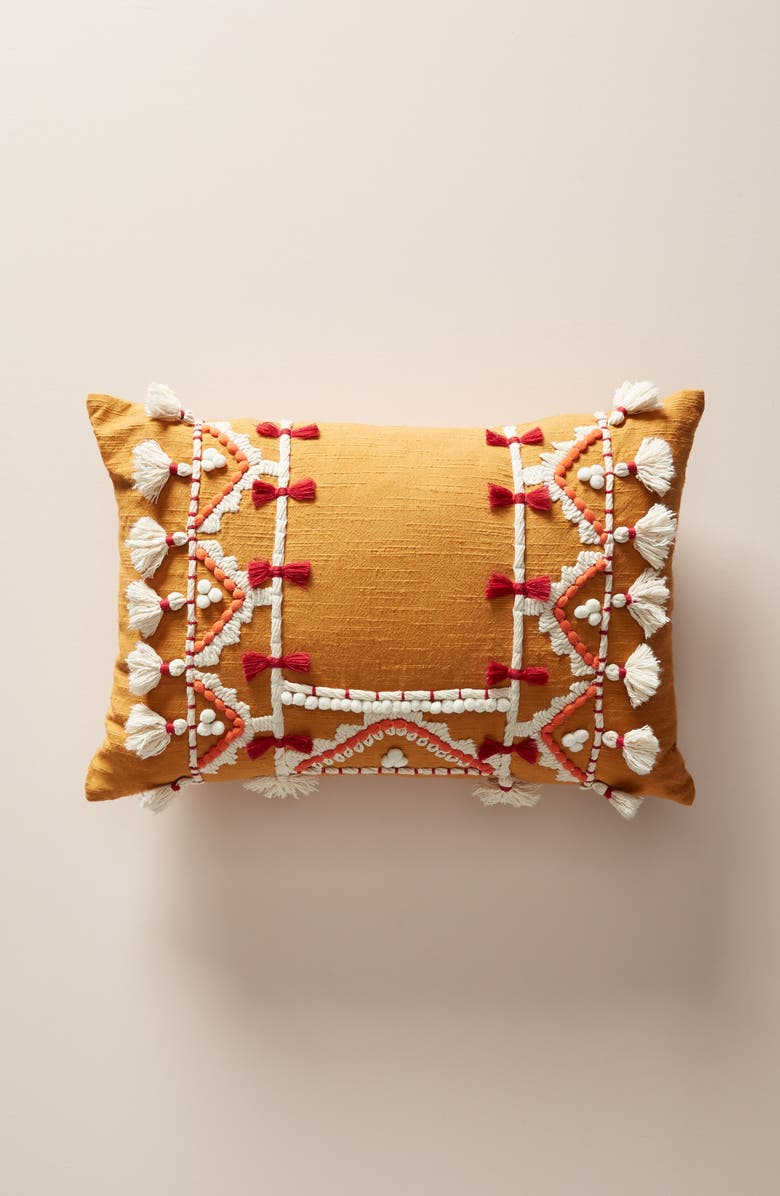 ANTHROPOLOGIE Vineet Bahl Accent Pillow, Main, color, MAGENTA