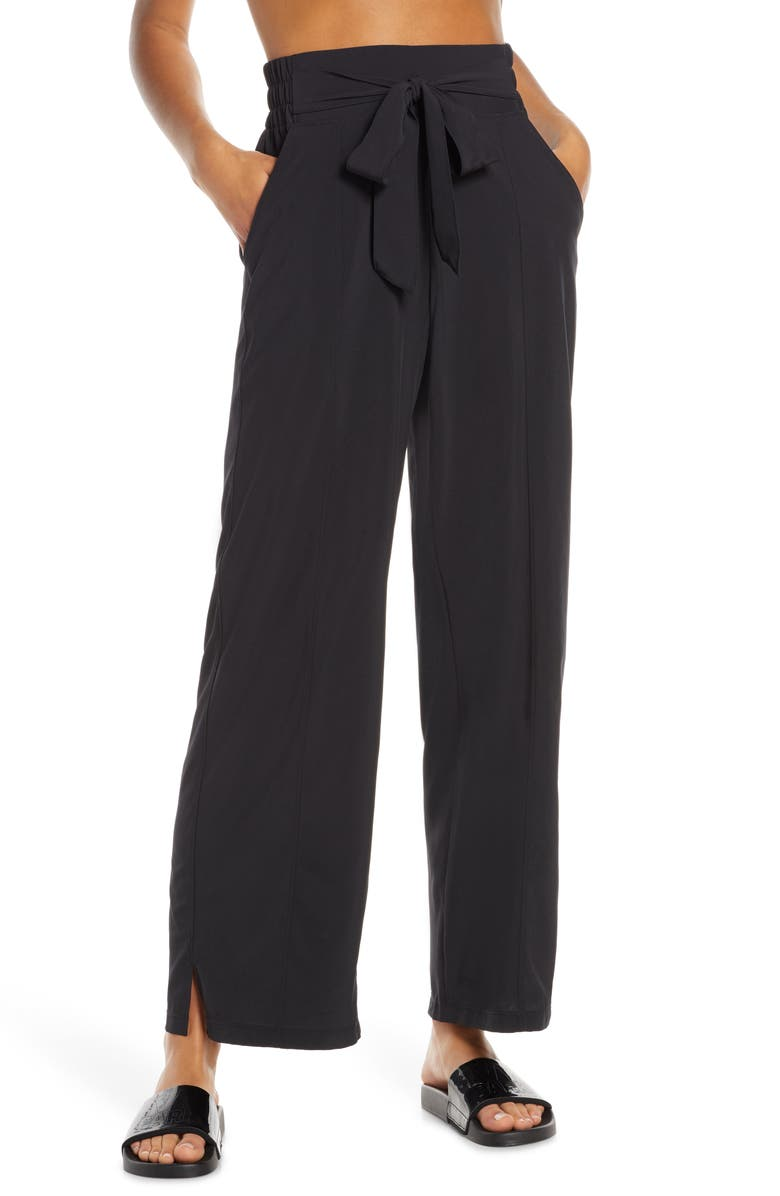 cc69ab7542691 Breeze By Wide Leg Pants, Main, color, BLACK