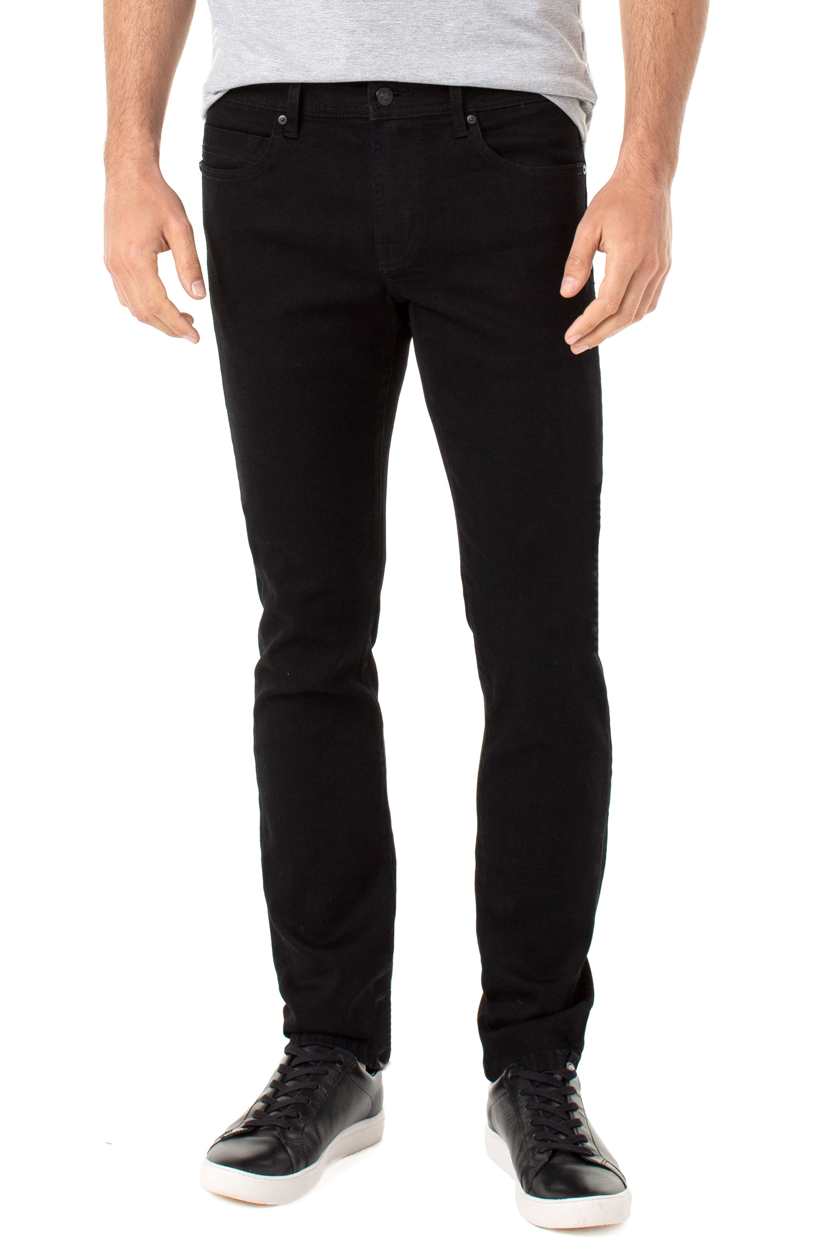 A dark wash brings smart versatility to soft stretch-denim jeans cut with a comfortable fit through the seat and thighs that slims at the knee. Style Name: Liverpool Kingston Modern Straight Leg Jeans (Odyssey). Style Number: 5896267. Available in stores.