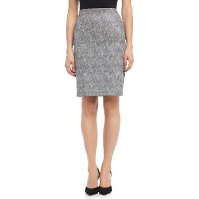 Karen Kane Metallic Jacquard Cotton Blend Pull-On Skirt, Metallic