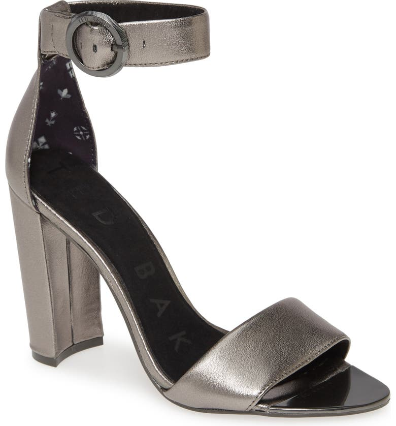 TED BAKER LONDON Secataa Sandal, Main, color, GUNMETAL LEATHER