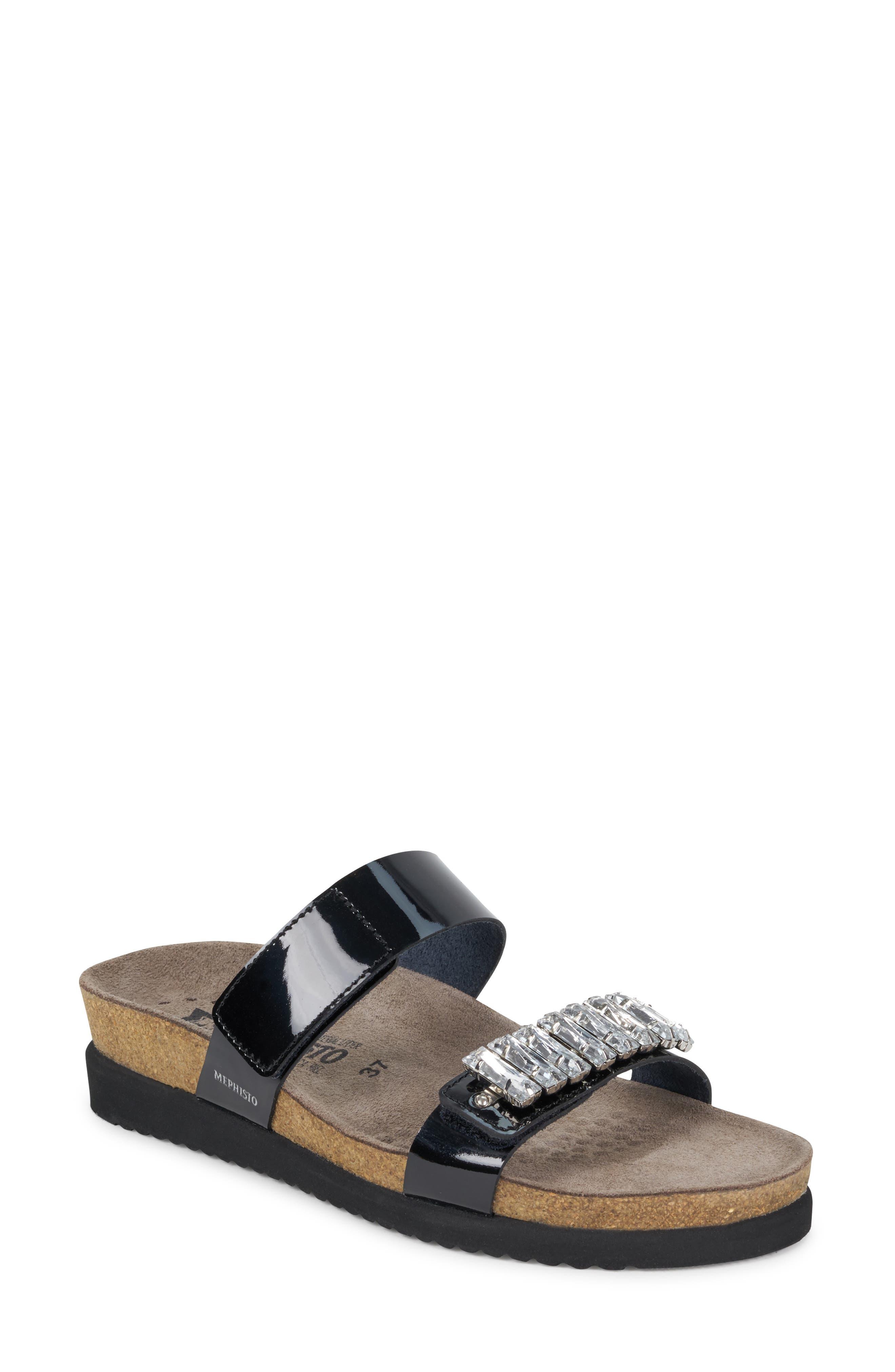 Mephisto Hakila Slide Sandal, Black