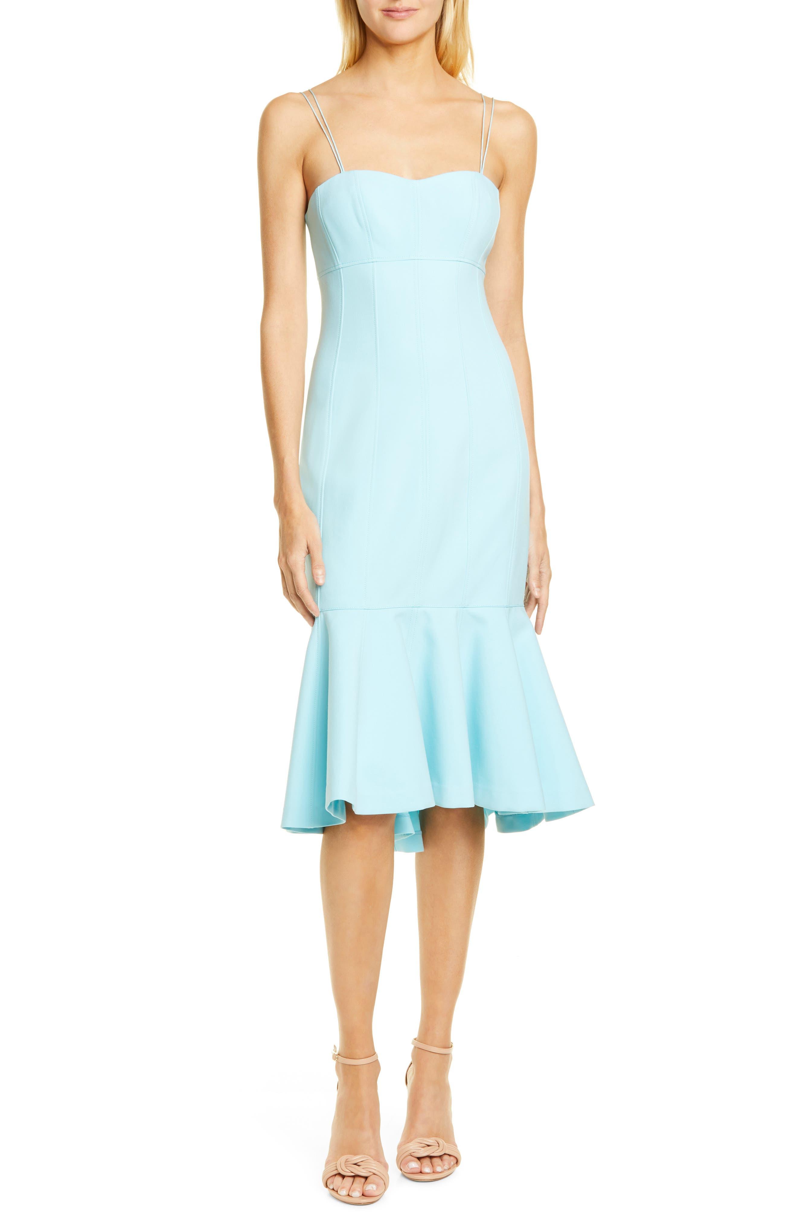 Cinq A Sept Salina Ruffle Hem Midi Dress, Blue