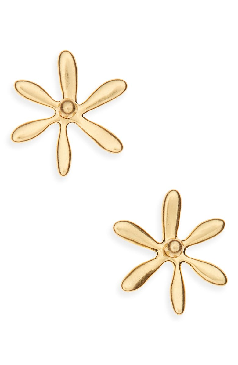 MADEWELL Floral Garden Stud Earrings, Main, color, VINTAGE GOLD