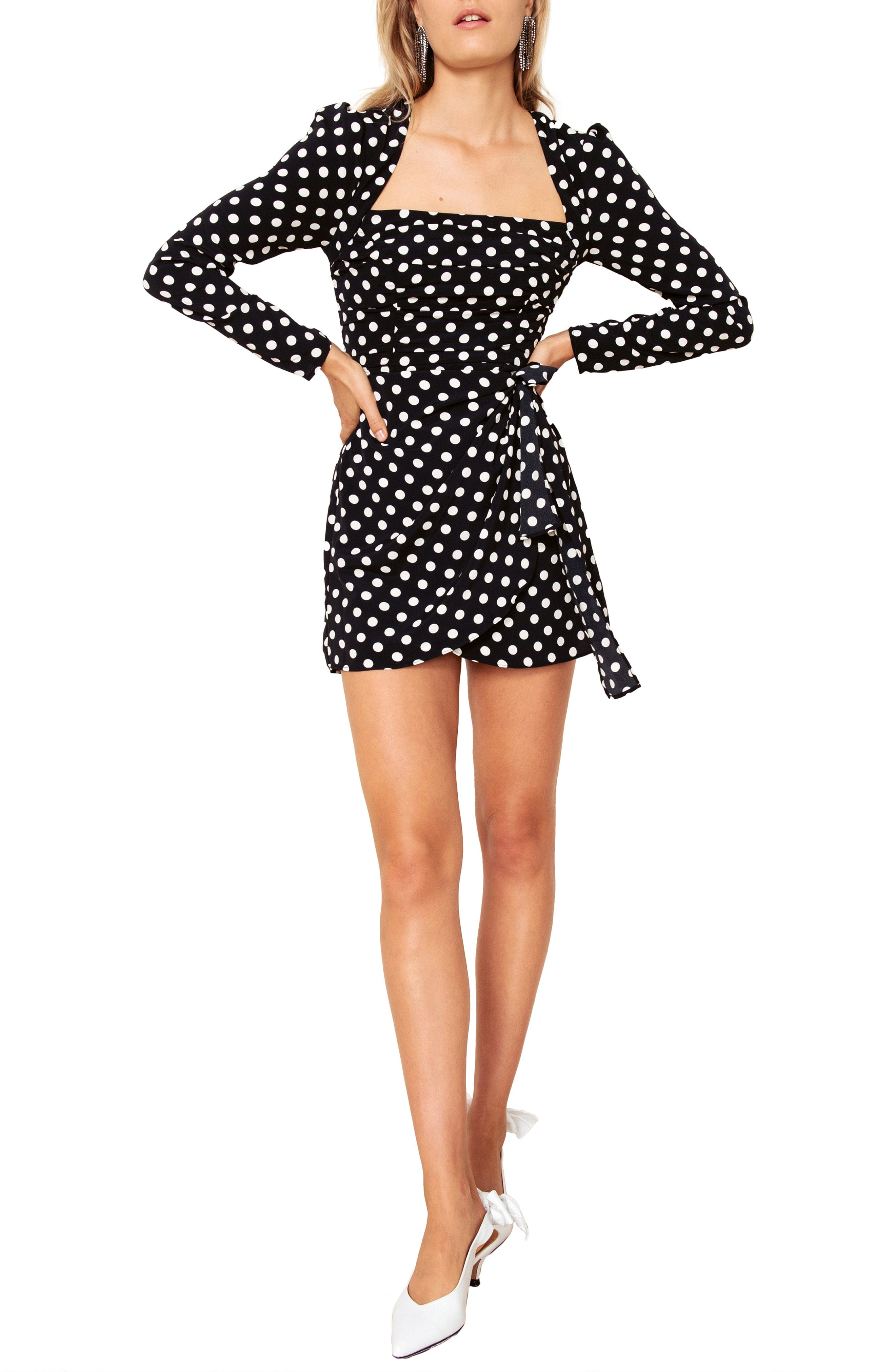 The East Order Amy Long Sleeve Minidress, Black