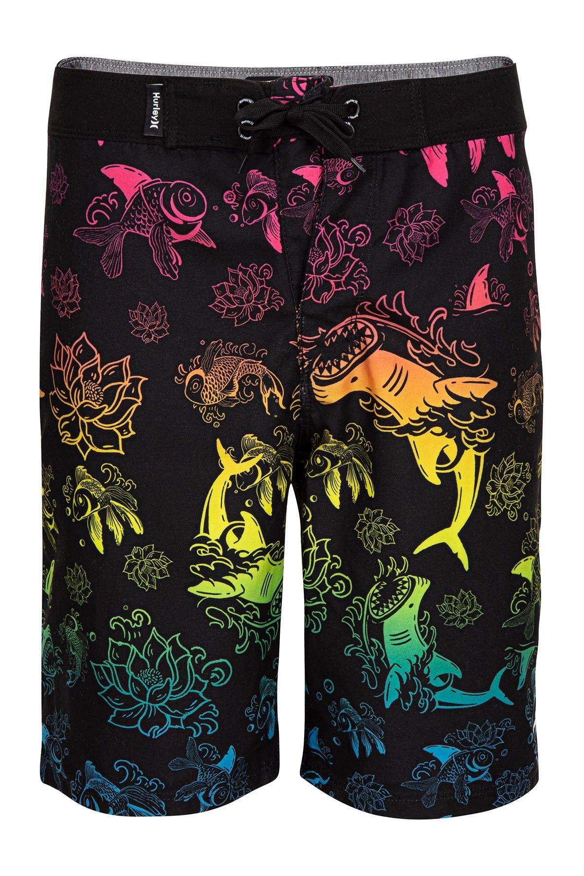 Image of Hurley Koi Fish Lace-Up Boardshorts