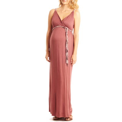 Everly Grey Sofia Maternity/nursing Maxi Dress