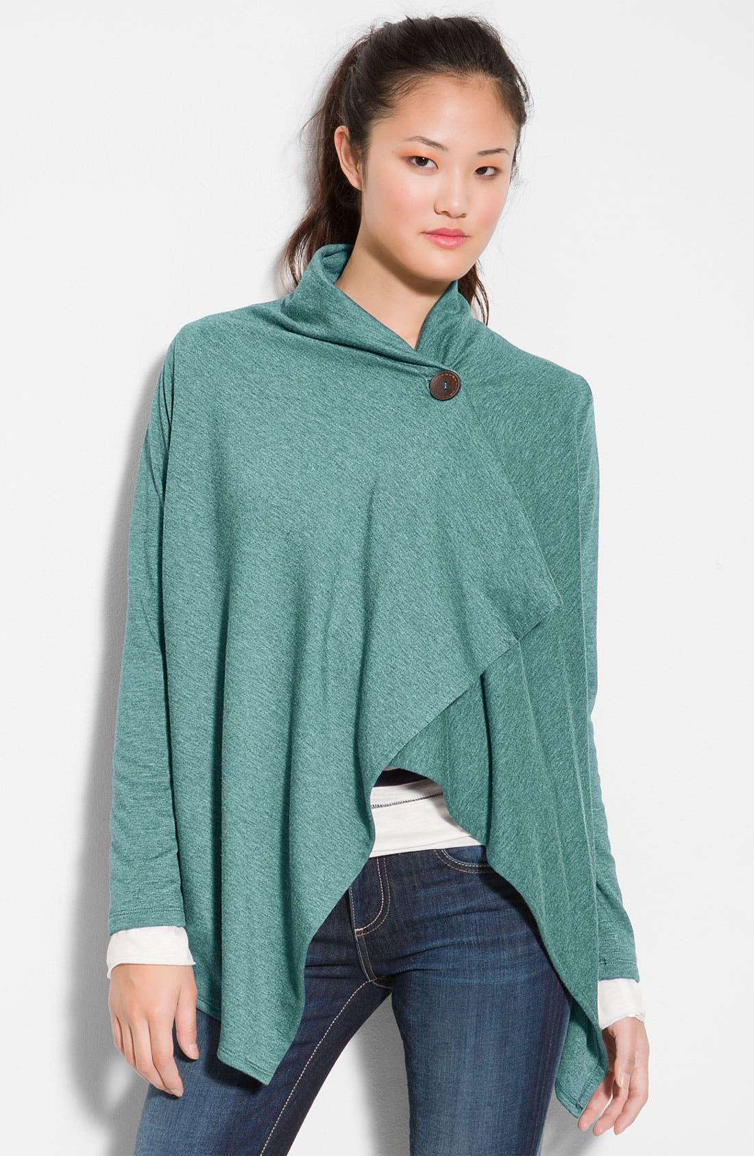 ,                             One-Button Fleece Wrap Cardigan,                             Main thumbnail 145, color,                             467
