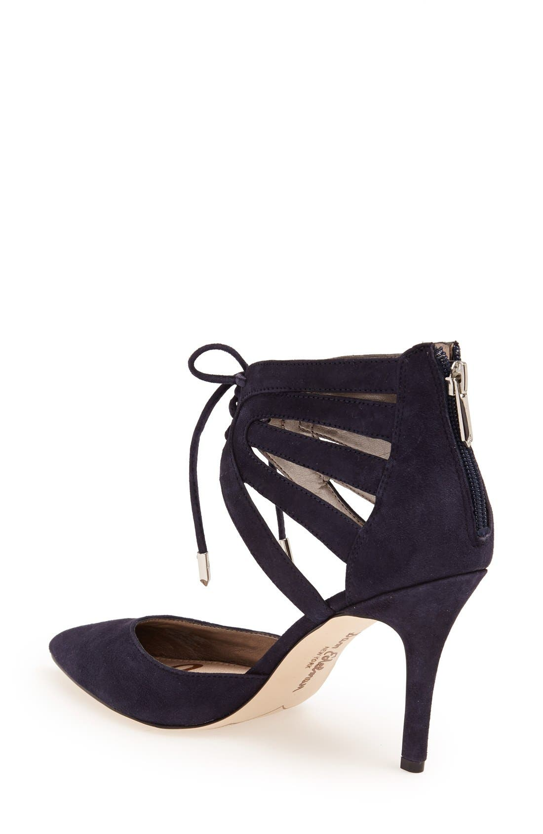 ,                             'Zachary' Cutout Ankle Cuff Suede Pump,                             Alternate thumbnail 8, color,                             400