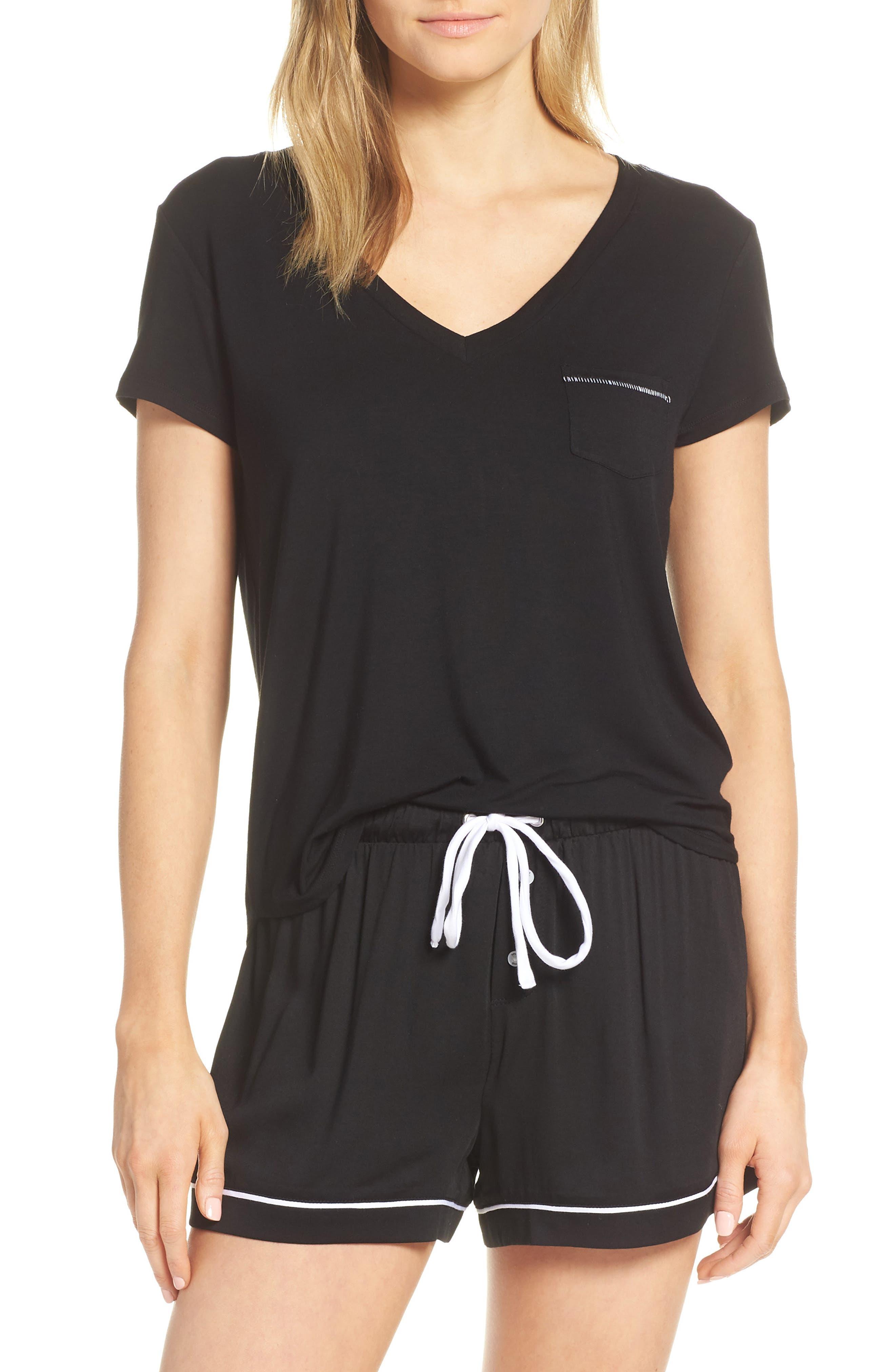 Splendid Pajama Tee, Black