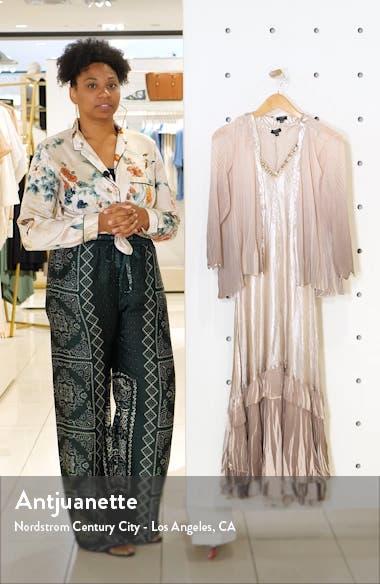 Floral Charmeuse & Chiffon Jacket Dress, sales video thumbnail