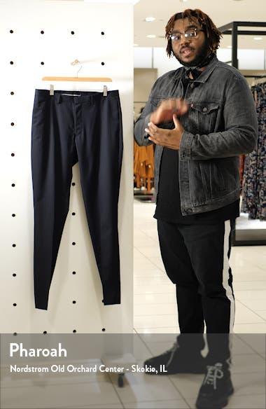Flat Front Stripe Wool Dress Pants, sales video thumbnail