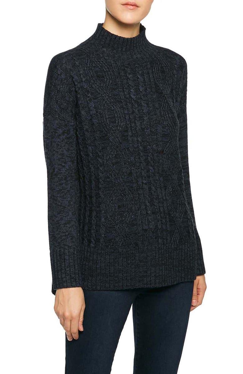 SANCTUARY The Wonderer Mock Neck Sweater, Main, color, 007
