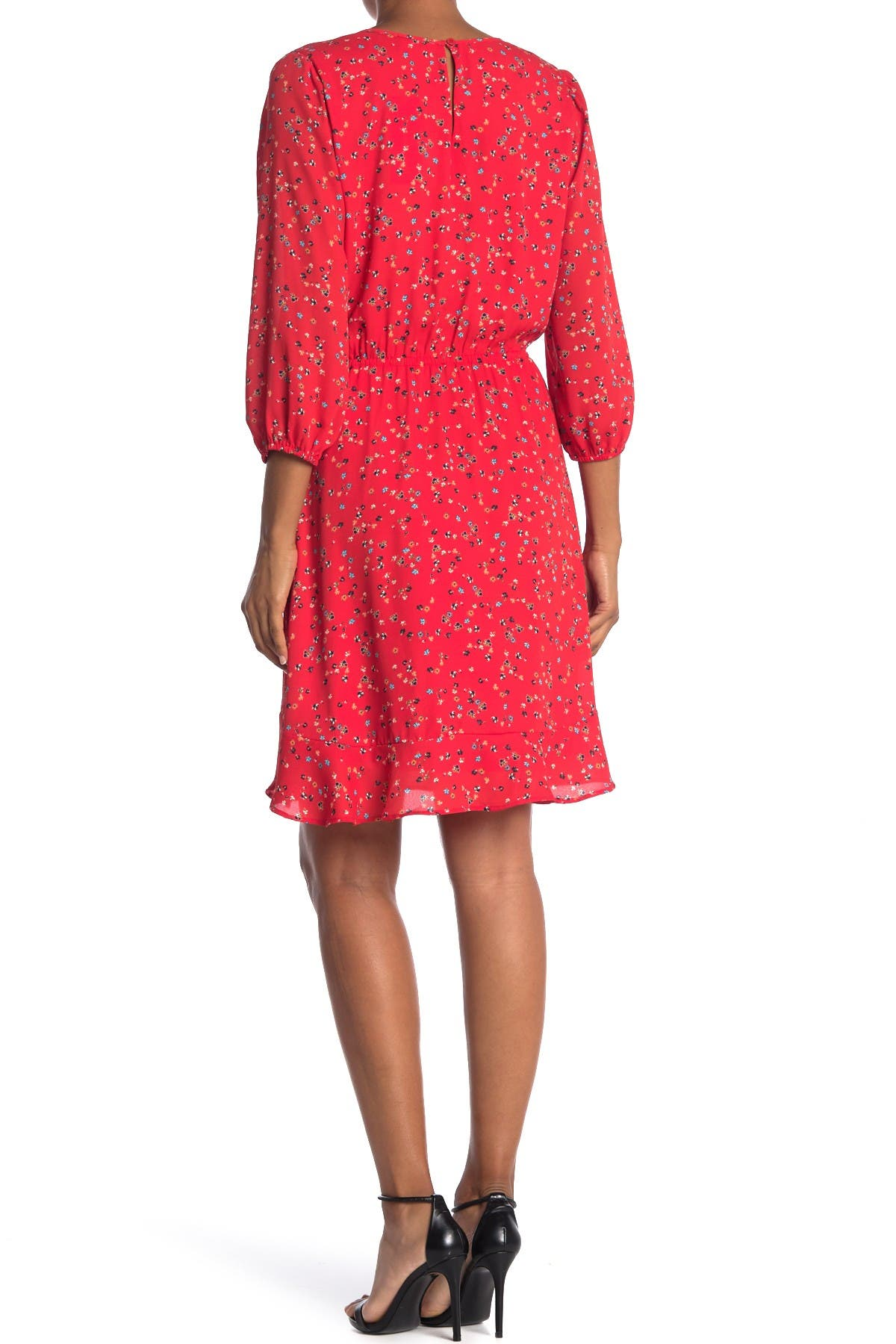 Image of Collective Concepts Floral Chest Keyhole Dress