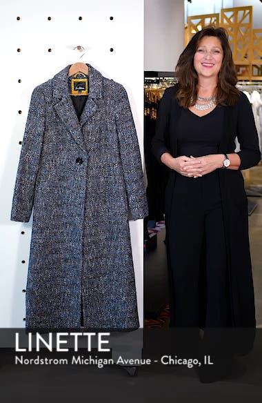 Tweed Reefer Maxi Coat, sales video thumbnail