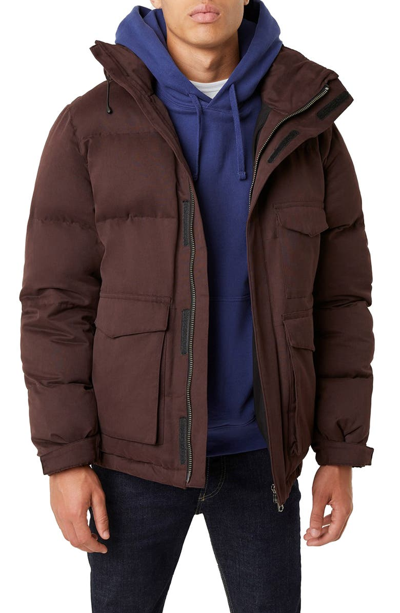 FRENCH CONNECTION Hooded Puffer Jacket, Main, color, 500