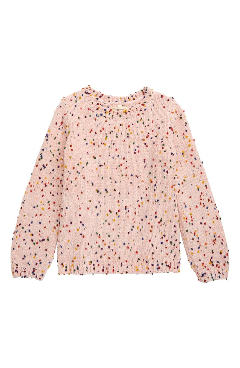 TUCKER + TATE Confetti Chenille Tunic Sweater, Main, color, PINK ENGLISH