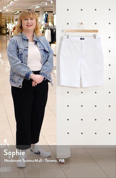 Stretch Cotton Blend Twill Bermuda Shorts, sales video thumbnail