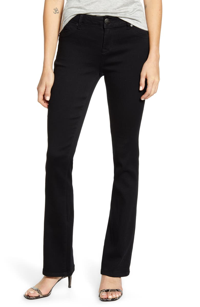 1822 DENIM Butter Slim Fit Bootcut Jeans, Main, color, BLACK