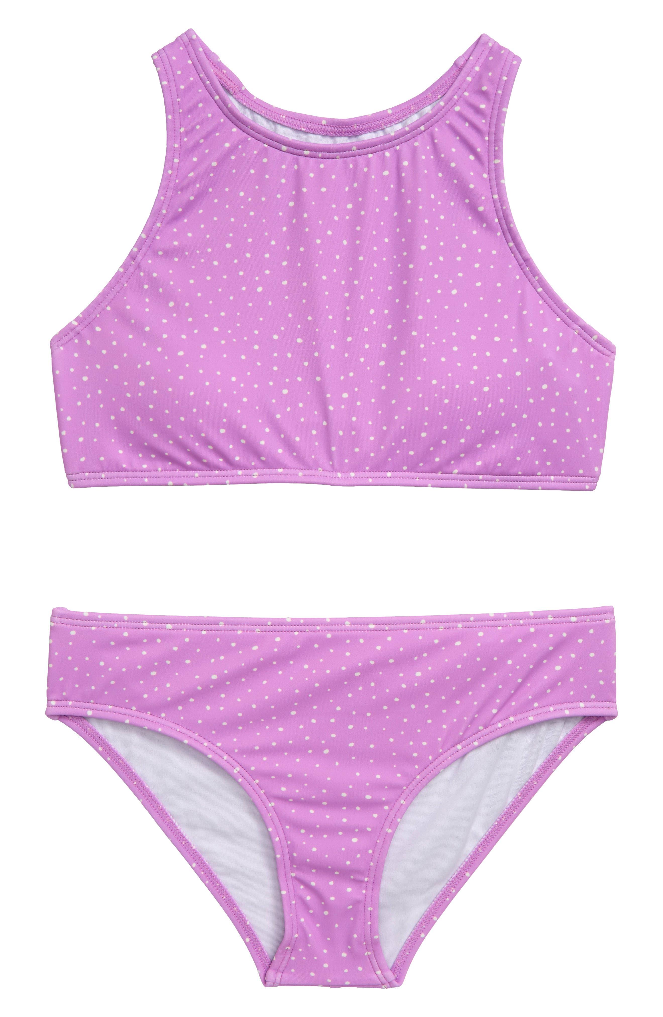 Girls Billabong High Neck TwoPiece Swimsuit