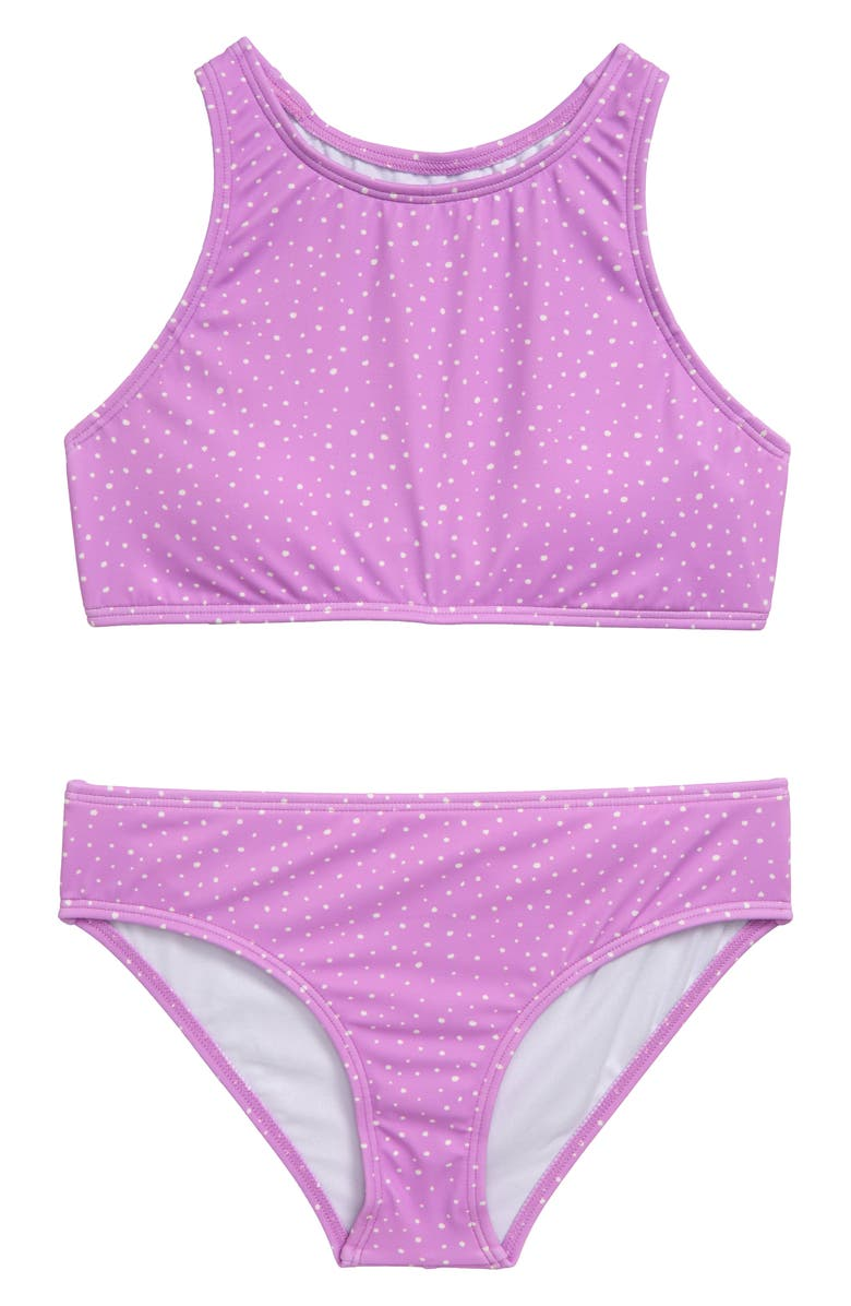 BILLABONG High Neck Two-Piece Swimsuit, Main, color, WILD LAVENDAR