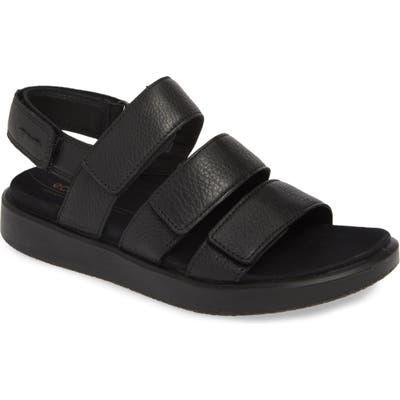 Ecco Flowt 3 Strappy Sandal, Black