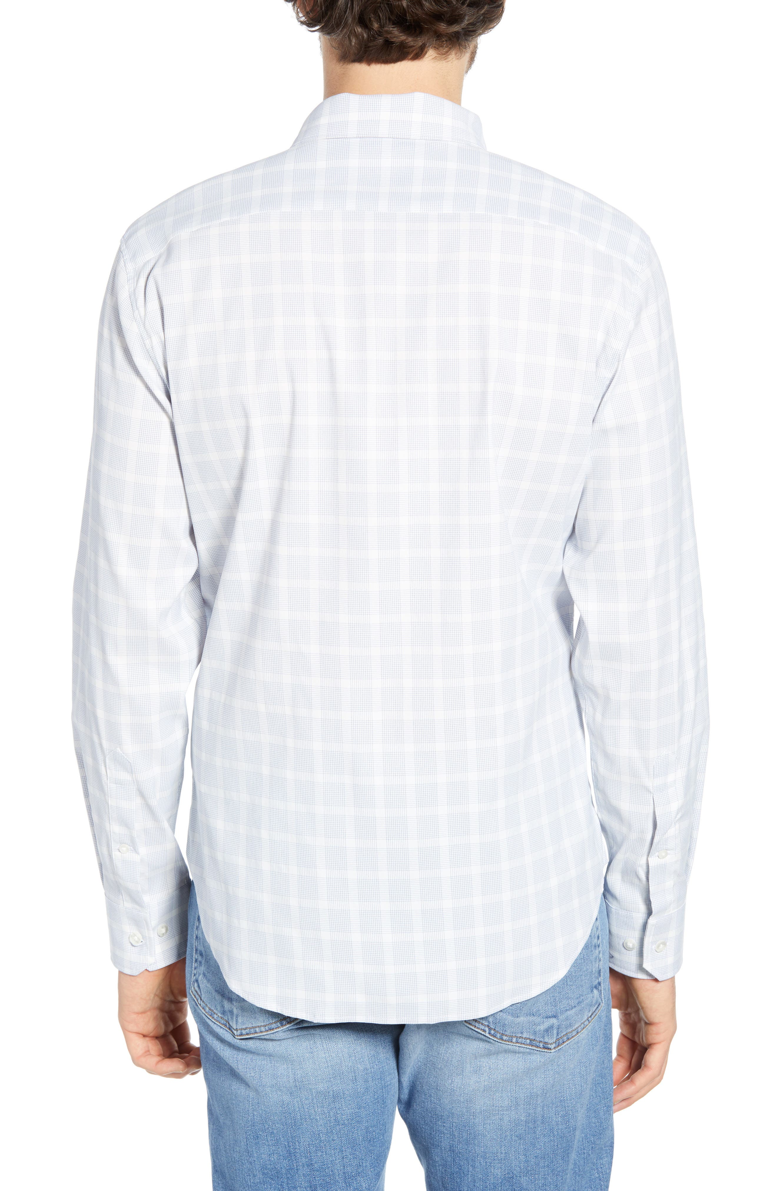 ,                             Slim Fit Check Tech Sport Shirt,                             Alternate thumbnail 3, color,                             MIGUEL CHECK AZUL