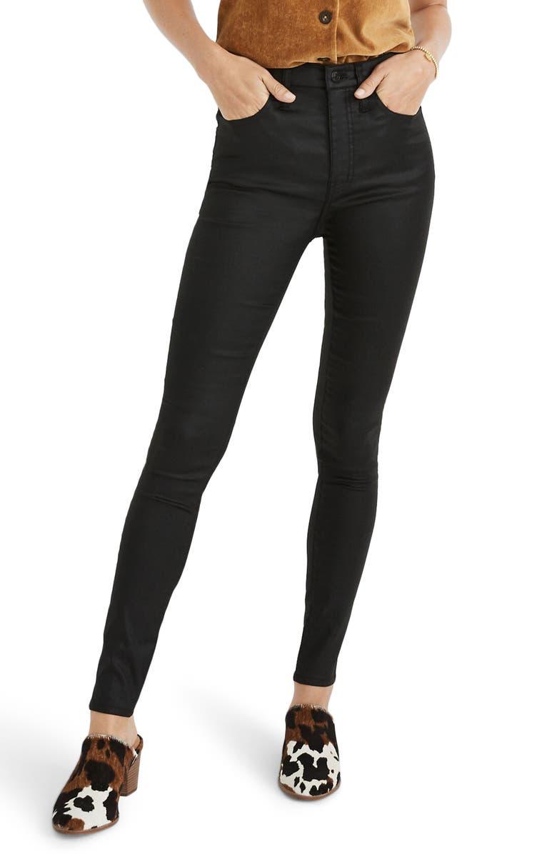 MADEWELL 10 Coated Edition High Waist Skinny Jeans, Main, color, 001