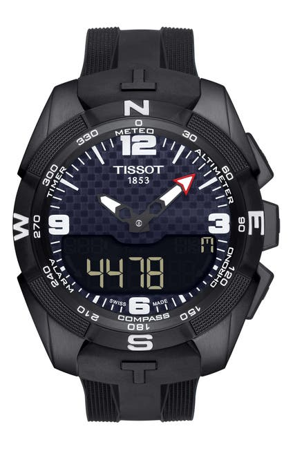 Image of Tissot Men's T-Touch Expert Solar Rubber Strap Watch, 45mm