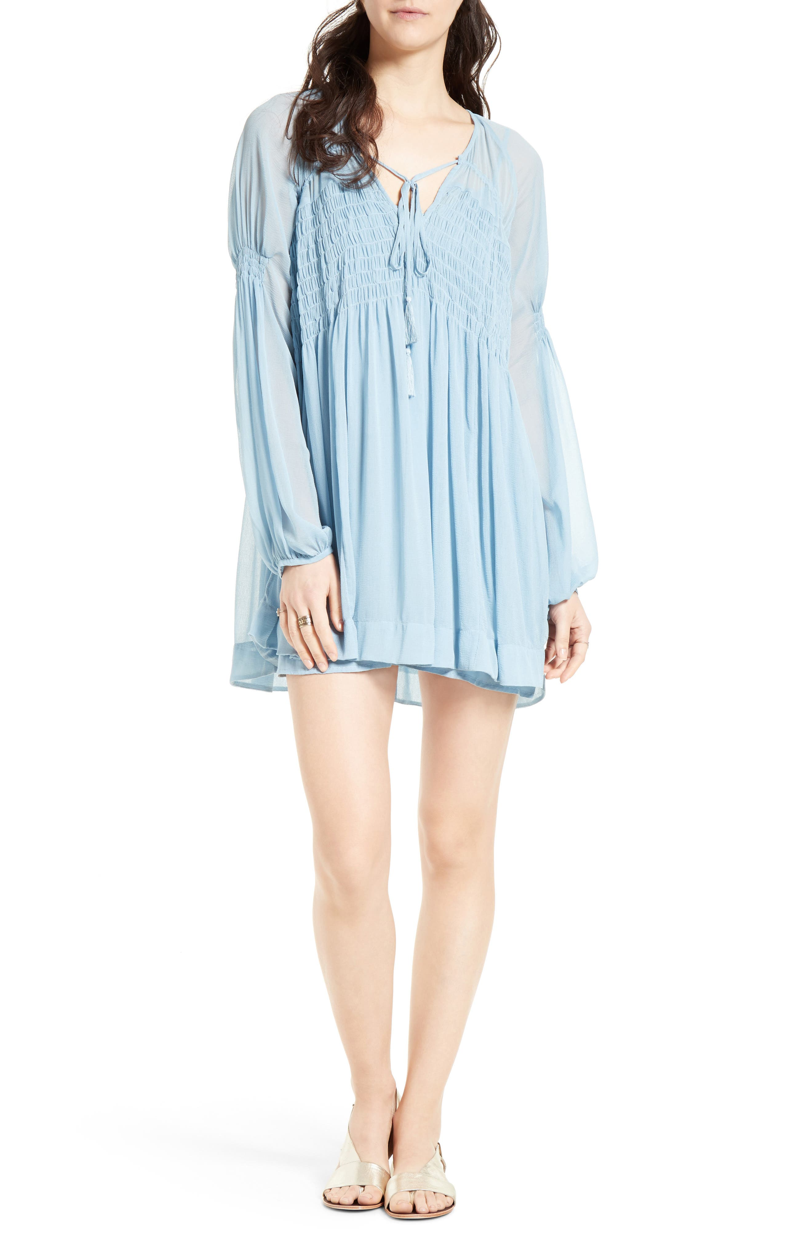 ,                             Lini Babydoll Dress,                             Main thumbnail 7, color,                             400