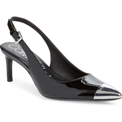 Calvin Klein Reina Slingback Pump- Black