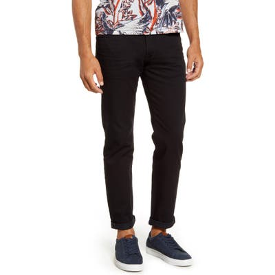 Ted Baker London Straight Fit Black Jeans Black