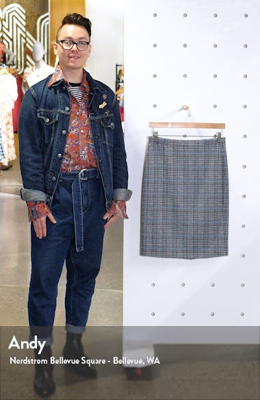 Plaid Ponte Pencil Skirt, sales video thumbnail