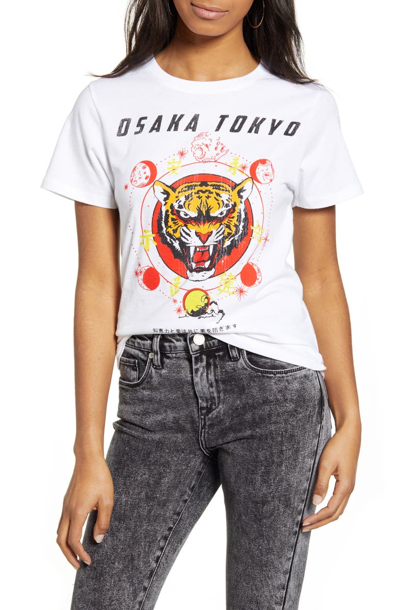 PRINCE PETER Osaka Tiger Tee, Main, color, WHITE