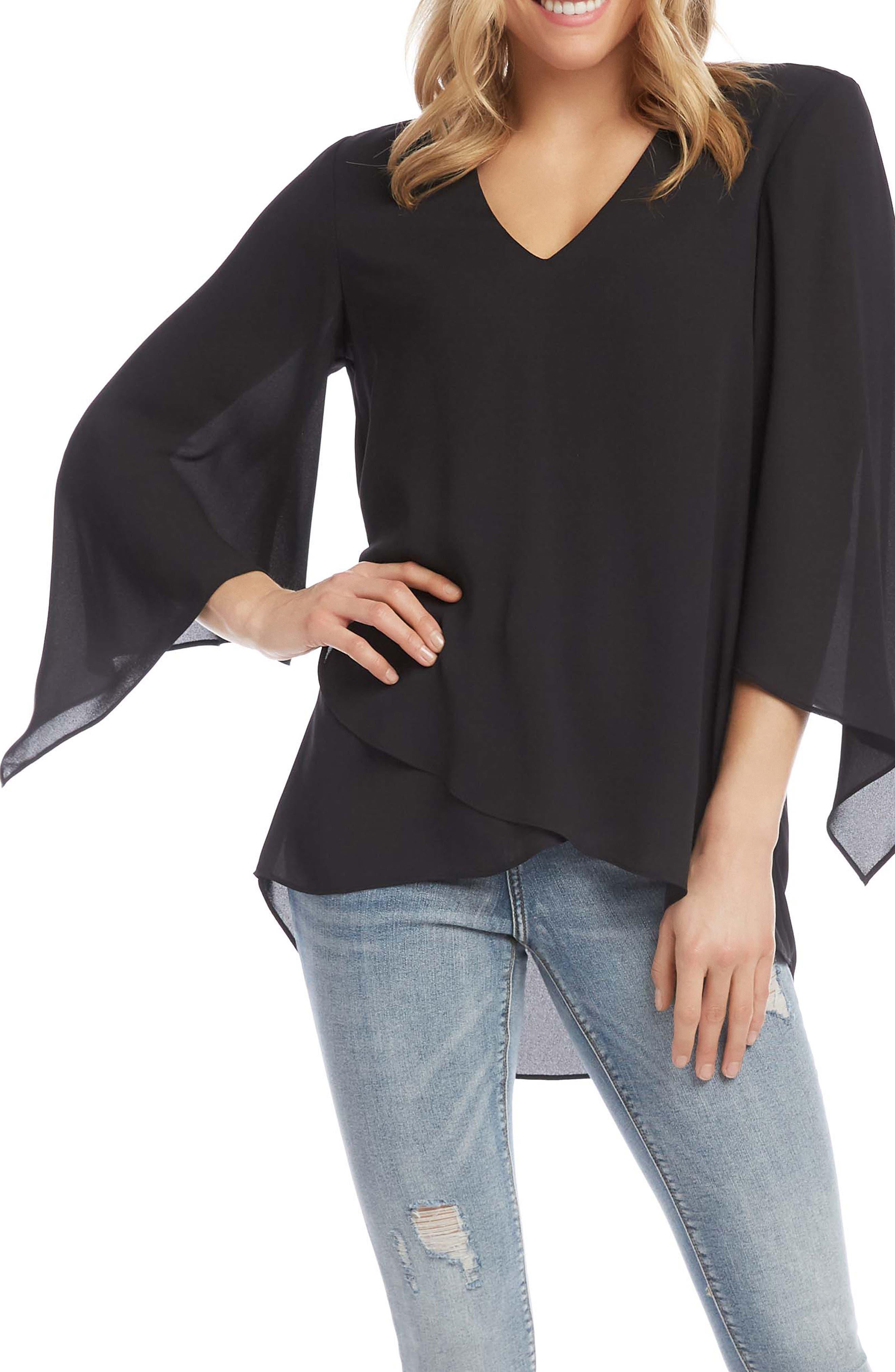 Asymmetrical Angle Sleeve Blouse