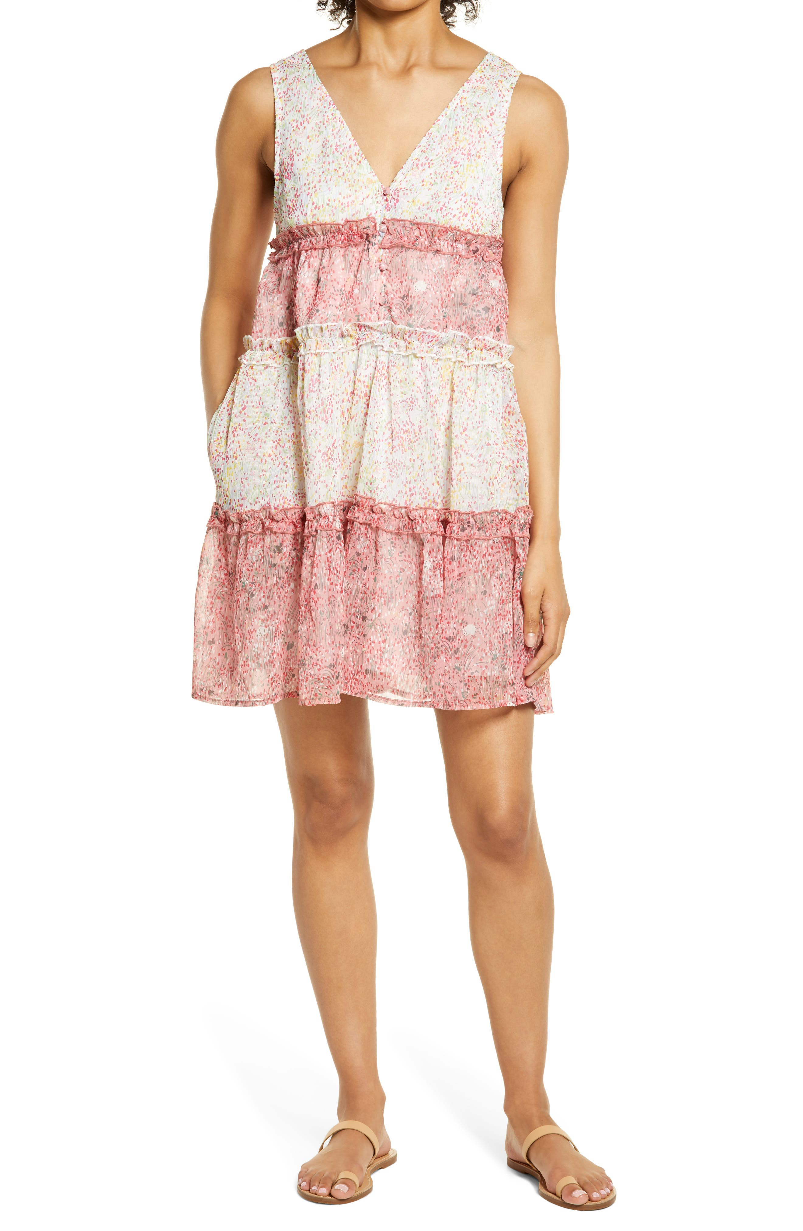 Ditsy Floral Babydoll Dress