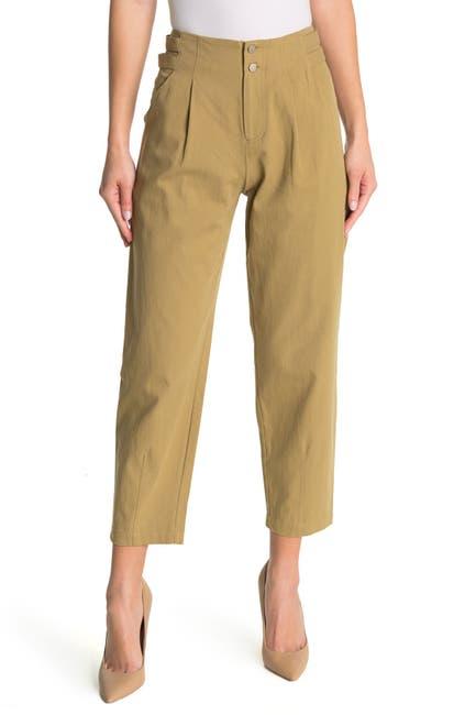 Image of Elodie High Waist Pleated Taper Pants