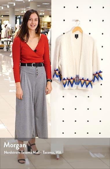 Eyelash Jacquard Open Front Cardigan, sales video thumbnail