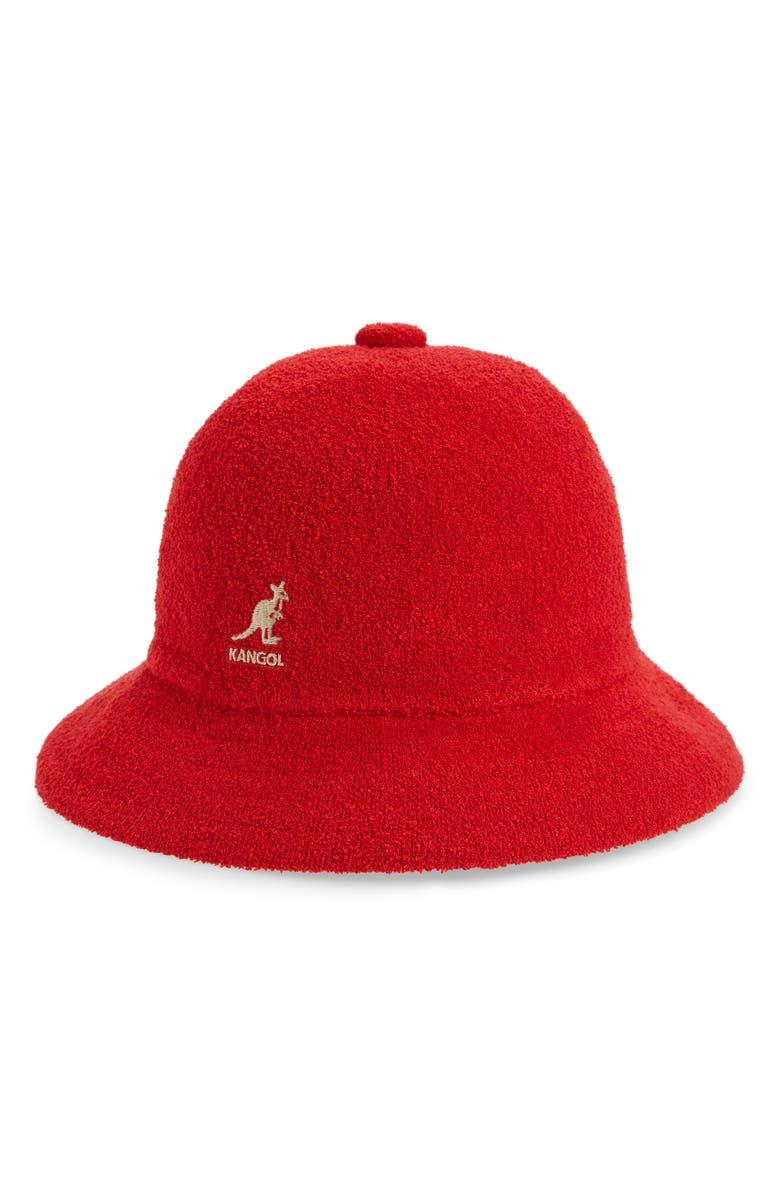KANGOL Bermuda Casual Cloche Hat, Main, color, SCARLET