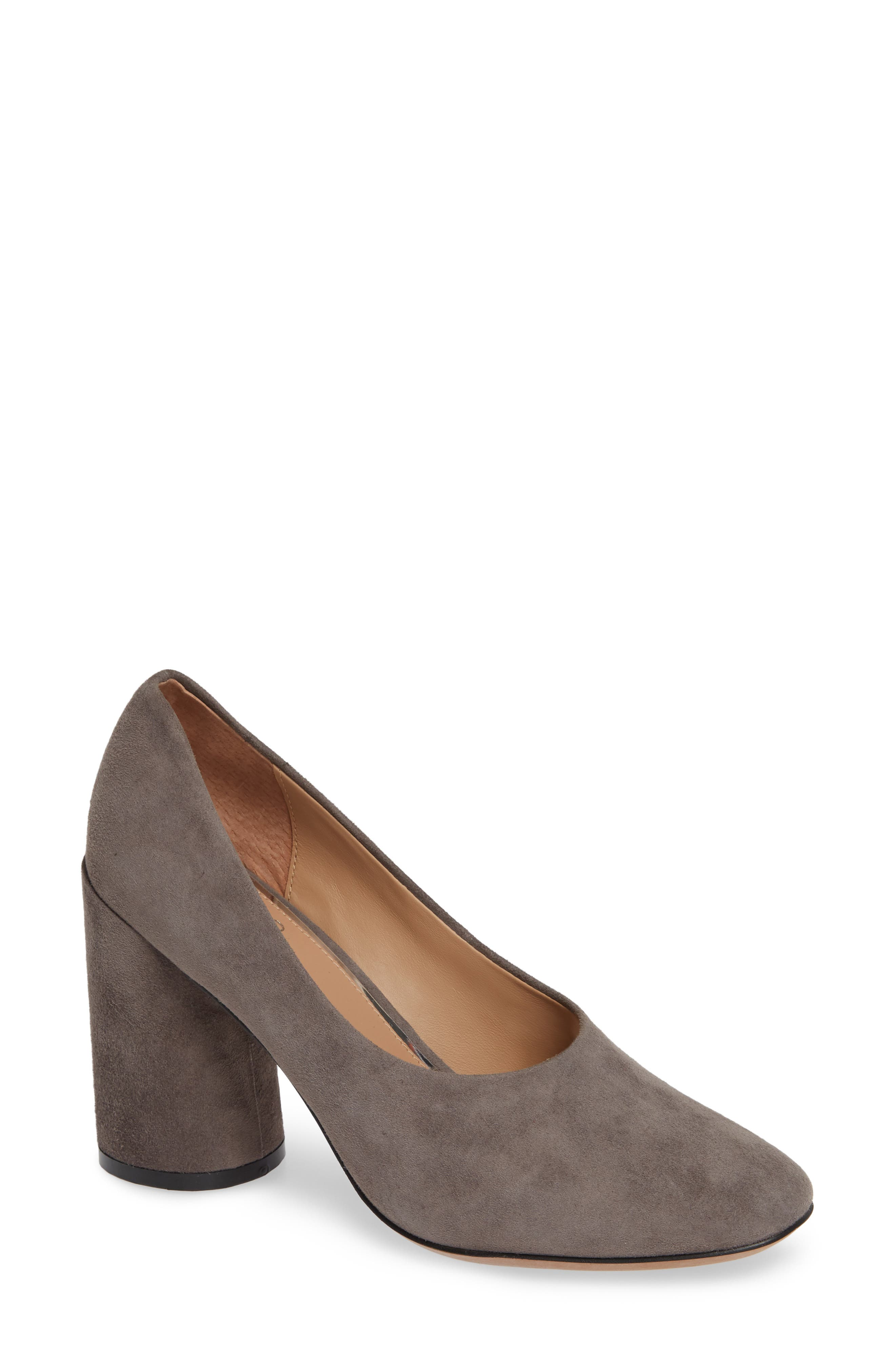 Linea Paolo Cherie Round Toe Pump, Grey