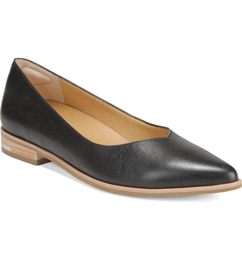 DR. SCHOLL'S Dr. Scholls Flair Flat, Main, color, BLACK LEATHER