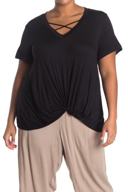 Image of Bobeau Twist Front Cage T-Shirt