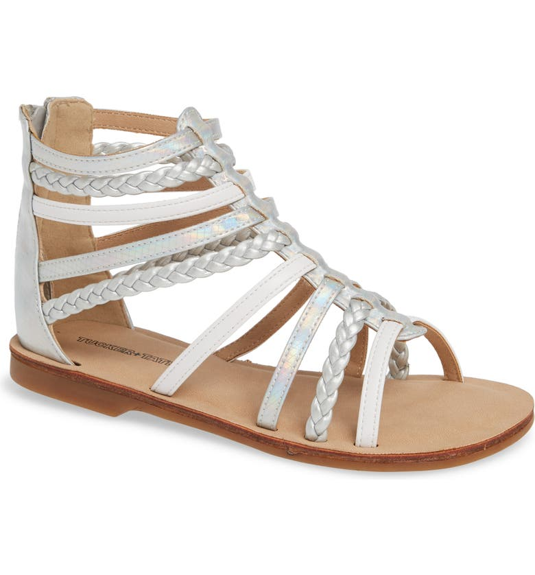 TUCKER + TATE Sonja Braided Gladiator Sandal, Main, color, 100