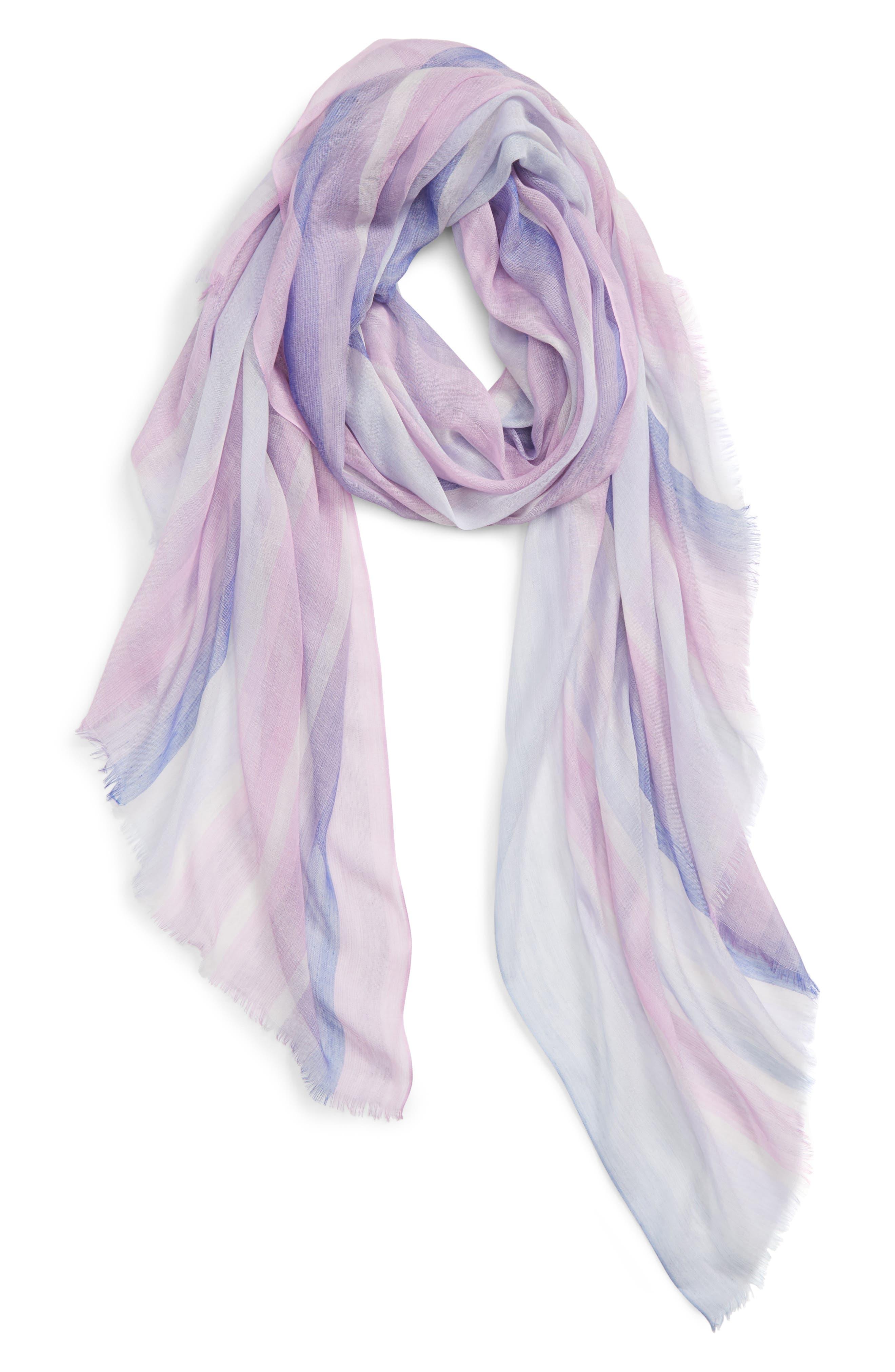 ,                             Yarn Dyed Stripe Wrap,                             Alternate thumbnail 2, color,                             PURPLE COMBO UNICORN STRIPE