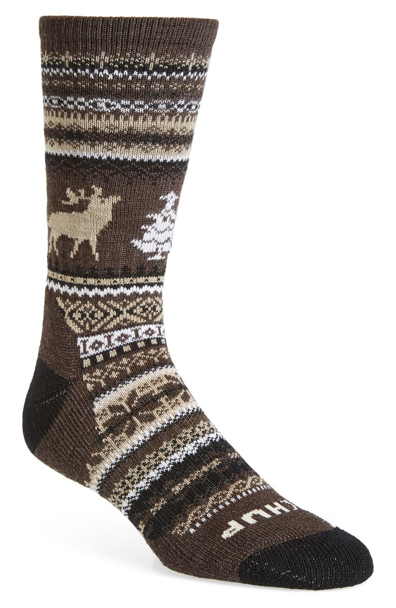 SMARTWOOL Premium CHUP Polar View Socks, Main, color, CHESTNUT