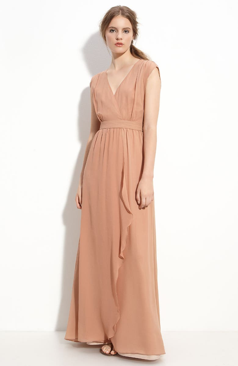 PAPER CROWN 'Clementine' Silk Dress, Main, color, 650