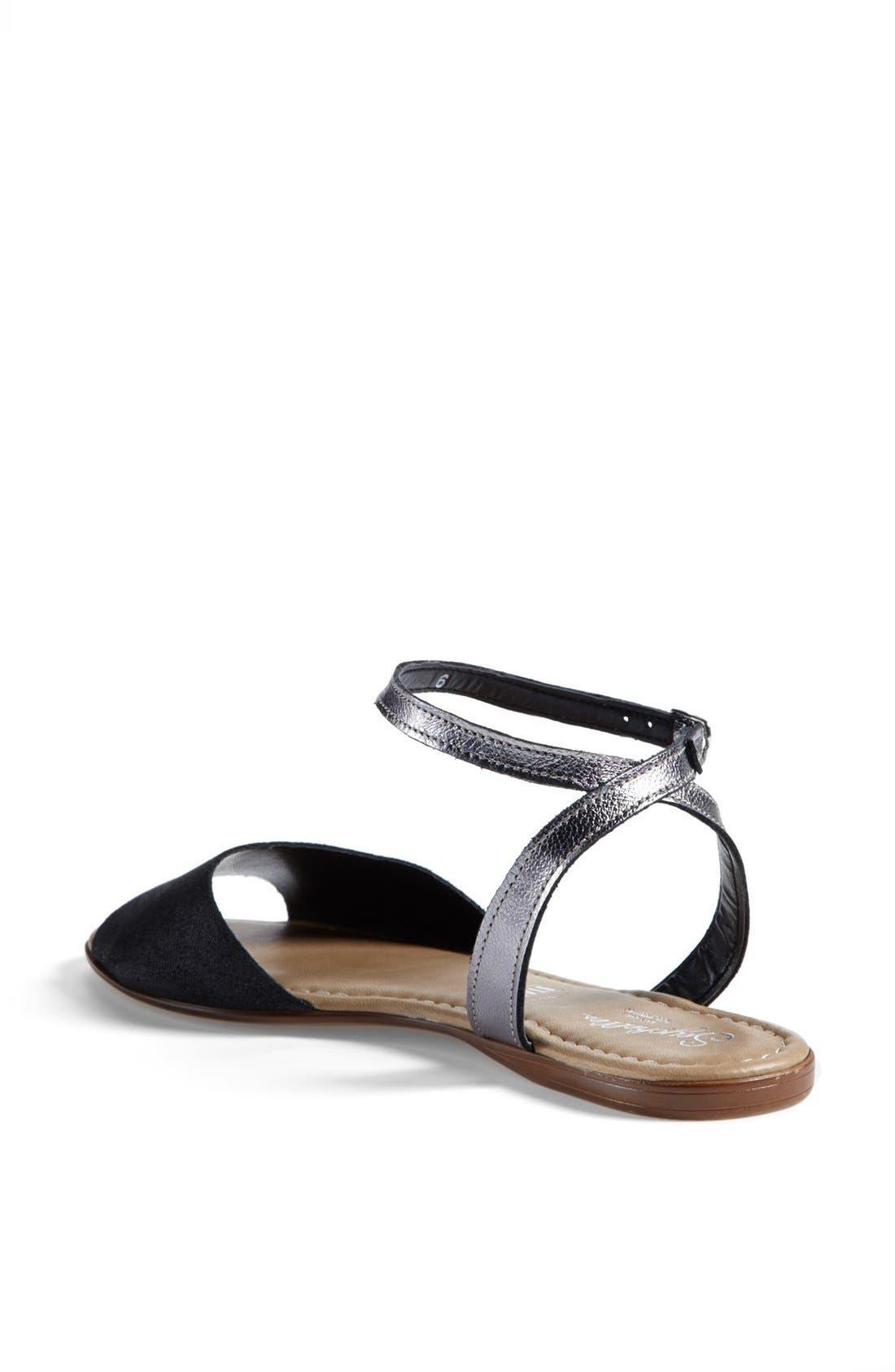 ,                             'Brand New' Ankle Strap Calf Hair Sandal,                             Alternate thumbnail 2, color,                             001