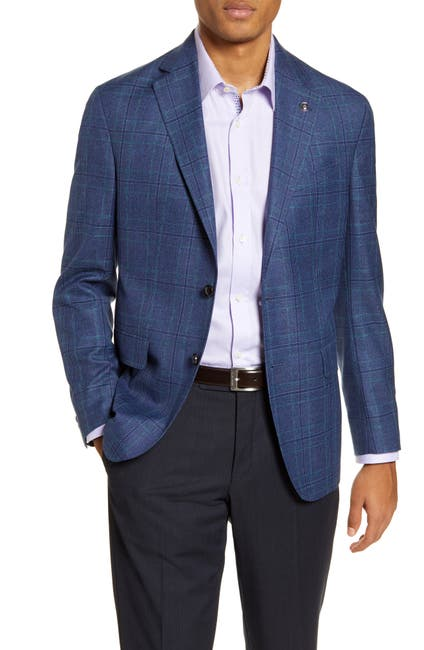 Image of Ted Baker London Konan Trim Fit Plaid Wool Blend Sport Coat