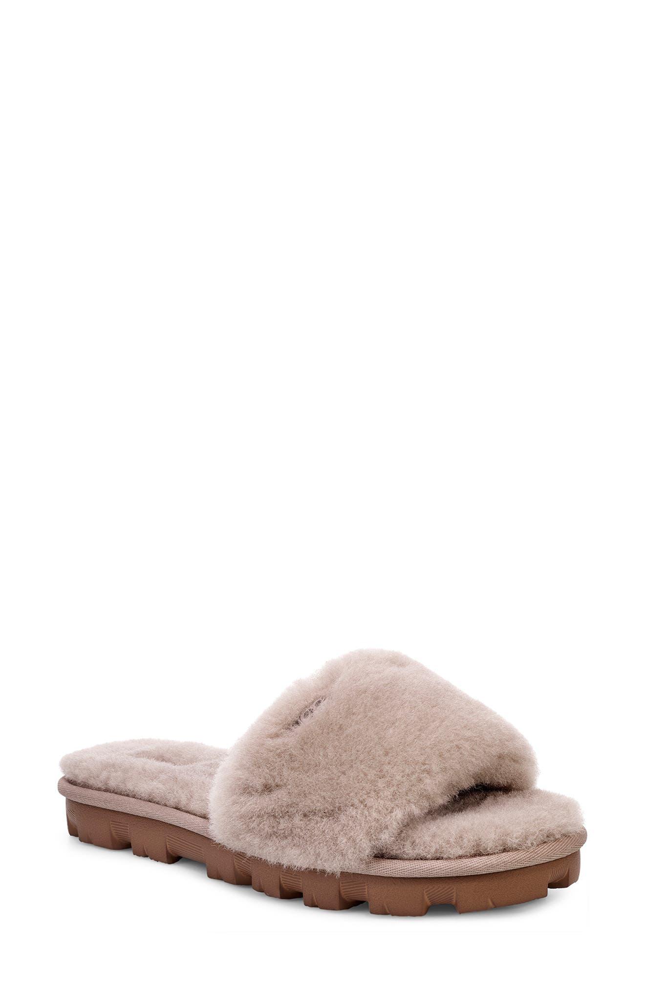 Ugg Cozette Genuine Shearling Slipper, Grey