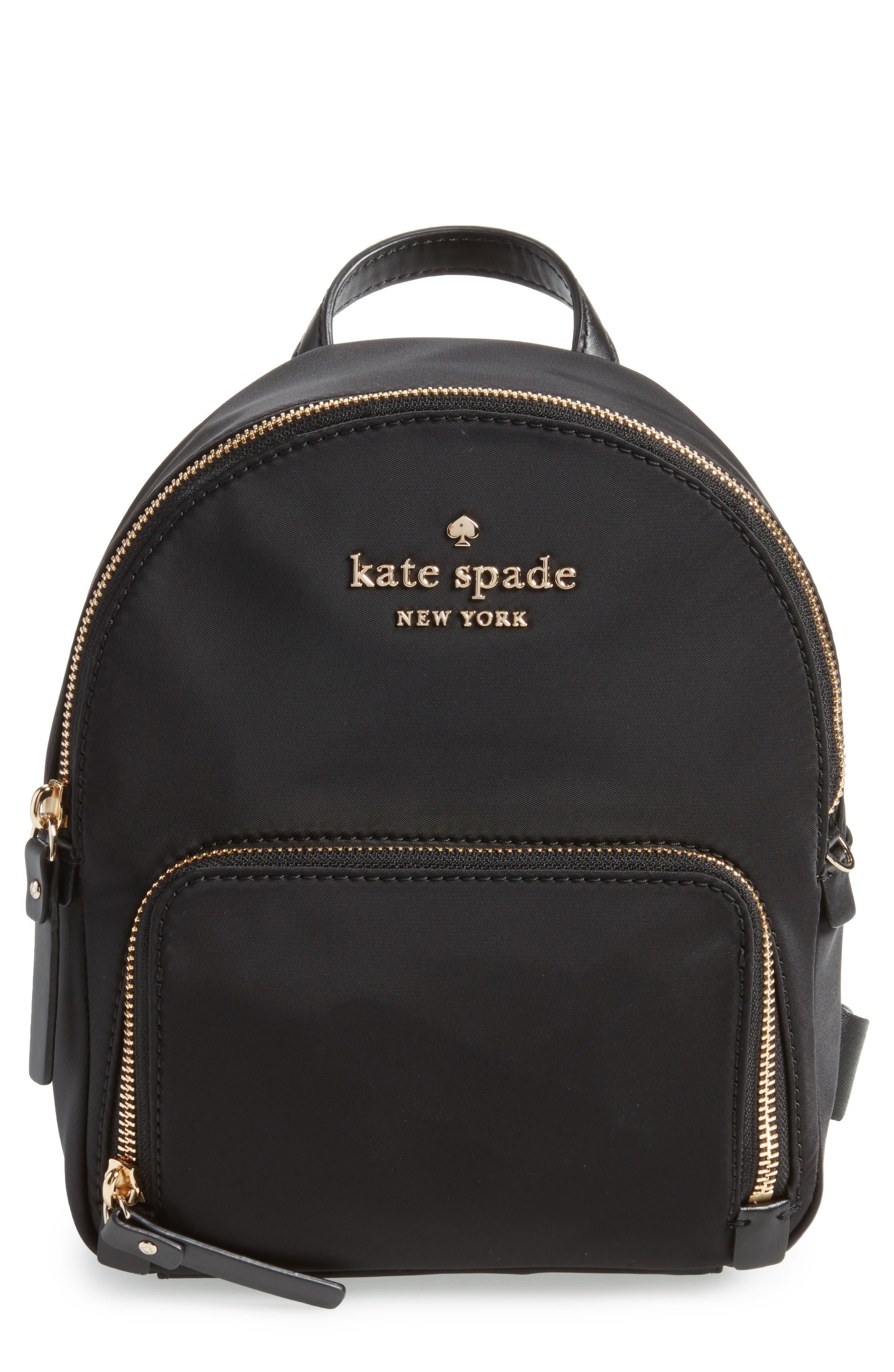 watson lane - small hartley nylon backpack, Main, color, BLACK